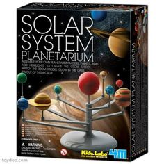 4M PROJECT KITS, Solar System Planetarium. Glows in the Dark! Build and paint your own glow-in-the-dark planetarium with this creative kit. Highlight it to create the glow effect. It's out of this world. A create and fun way to learn about the Solar System. Contains model with stand, brush, paint strip, instructions and more. Assembled model has 11-3/4 span. Recommended for ages 7 and up. (Product#: FMK-3427) #outerspace #colorful #universe #educational #science #glowinthedark