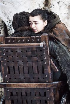 "Arya Stark and Bran Stark in 7.04 ""The Spoils of War"""