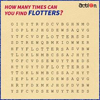 We have lost our FLOTTER in this crossword puzzle. Can you help us find it in the puzzle?