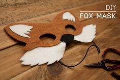 DIY Fox Mask...Mia's 6th birthday!!