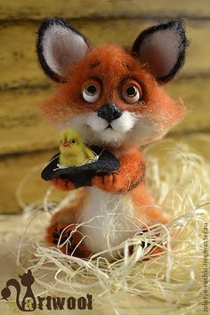 *NEEDLE FELTED ART ~ Toy animals, handmade. Fair Masters - handmade Pup Ludwig. Handmade.