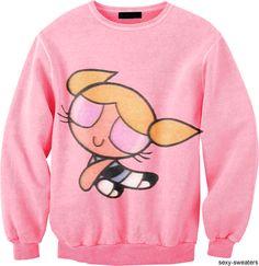 Powerpuff Girls Sweater Pink