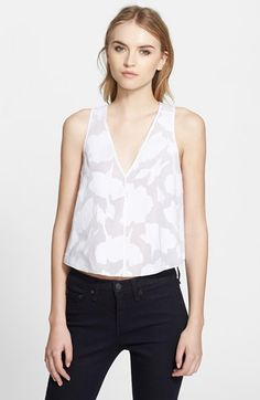 rag+&+bone+'Augusta'+Fil+Coupé+Cotton+Crop+Tank+available+at+#Nordstrom