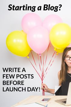 Tip for starting a blog: write a few posts before you launch your new blog. Come read how much content you should have before going live with your new blog. Do You Need, Getting To Know You, Make Money Blogging, How To Make Money, First Blog Post, Blog Writing, Blogging For Beginners, News Blog, How To Start A Blog