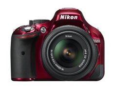 Nikon D5200 CMOS DSLR with 18-55mm f/3.5-5.6 AF-S NIKKOR Zoom Lens (Red)  Nikon $596.95