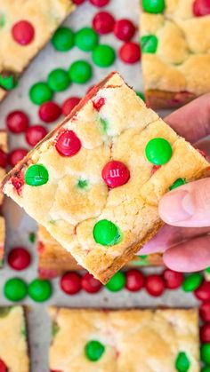 M&M Cookie Bars are soft and chewy, and are easily made with only four ingredients. If you love M&M's, this is the ultimate treat to make. #m&m #m&ms #cookiebars #christmascookies #holidayrecipes #desserts #easyrecipe #sweetandsavorymeals M&m Cookie Recipe, Cookie Pie, Brownie Cookies, Cake Cookies, Cookie Recipes, M M Cookie Bar, Cake Mix Recipes, M&m Bars Recipe, Brownie Recipes