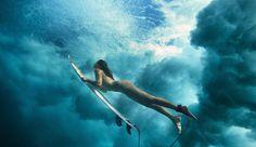 Underwater surfing