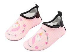 49edf5bf1ee3 Kids Water Shoes Swim Slip on Barefoot Aqua Socks Shoes for Beach Pool  Surfing