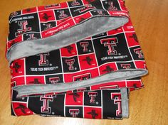Soft silky baby blanket Texas Tech Red Raiders by HomemakersHelper, $21.99