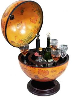 """Turin Tabletop 16.5"""" Italian Replica Globe Bar"""