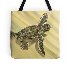 """Sea Turtle art"" Tote Bags by whiteygilroy | Redbubble"
