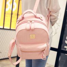 Shoulder bag female Korean student backpack bag 2016 bag casual and simple retro crocodile pattern bag handbag College Wind - Taobao