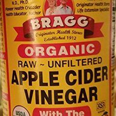 Amazon.com : Bragg Organic Raw Apple Cider Vinegar, 32 Ounce - 1 Pack : Glycolic Acid : Grocery & Gourmet Food