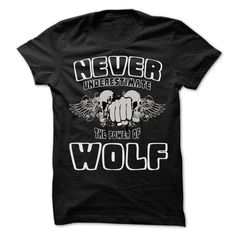 (Tshirt Sale) Never Underestimate The Power Of WOLF 999 Cool Name Shirt [TShirt 2016] Hoodies, Funny Tee Shirts