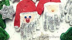 Masa solna, ozdoby choinkowe, Mikołaj, odcisk dłoni