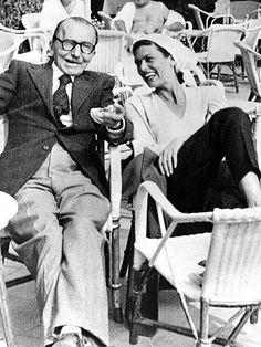 Νίκος Καζαντζάκης & Μελίνα Μερκούρη. Nikos Kazantakis (Greek writer) and Melina Merkouri (Greek actress and politician). Two important and famous Greek personalities.