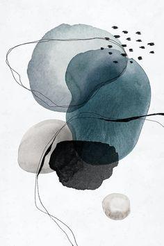Watercolor Circles, Abstract Watercolor Art, Watercolor Artists, Water Color Abstract, Abstract Art Blue, Simple Watercolor, Watercolor Ideas, Watercolor Drawing, Abstract Oil