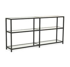 """FRITZ LOW BOOKCASE SMALL DETAILS: style #10611-BCK dims 55""""w 10""""d 26.5""""h"""