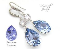 Lavender Earrings Bridal Teardrop Earrings от BeYourselfJewelry