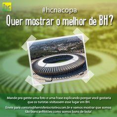A Hemisfério Criativo tem um orgulho imenso de ser brasileira! E também em saber que a nossa Belo Horizonte receberá visitantes de vários lugares do mundo. Queremos mostrar para os turistas o que temos de melhor! E você? O que gostaria que as pessoas visitassem em BH?