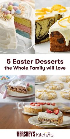 When Easter rolls around, bake up one of these delicious springtime-inspired recipes for all levels of baking expertise. From shortcake to whipped pie, there's something to win over everyone's taste buds.