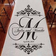 Your place to buy and sell all things handmade Monogram Wedding, Personalized Wedding, Diy Wedding, Wedding Ideas, Table Wedding, Monogram Stencil, Stencil Art, Monogram Letters, Wedding Isle Runner