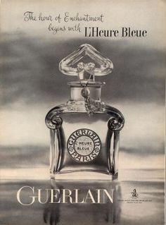 vintage perfume ads | Vintage 1961 Guerlain Paris Perfume AD