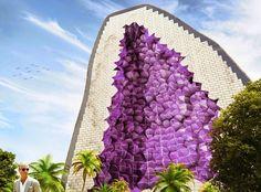 Tecnoneo: Nuevo proyecto de hotel con las formas cristalinas de una amatista de NL Architects