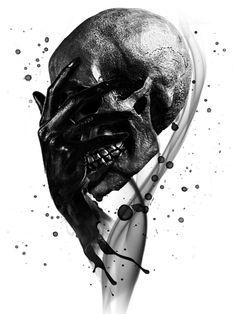 T-shirt Sérigraphié Femme - Tête de Mort