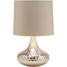 """Bottle Neck 23"""" H Table Lamp with Drum Shade"""