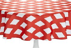 Milan Round Tablecloth, Red on OneKingsLane.com