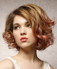 Short Curly Hairstyle. Try on this hairstyle and view styling steps! http://www.thehairstyler.com/hairstyles/formal/short/curly/short-fancy-curly-hairstyle