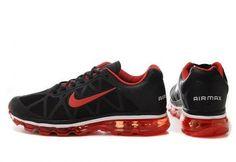 ナイキ Nike エアマックス + 2011 ブラック / バーシティ レッド - ホワイト Nike0200