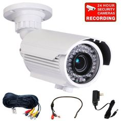 "VideoSecu Day Night Vision Built-in 1/3"" Sony Effio Color CCD Infrared Bullet Security Camera 700TVL Outdoor Weatherproof 4-9mm Zoom Focus Lens 42 IR Illumination LEDs Home CCTV Surveillance Camera with Mini Microphone, Power Supply and Extension Cable A82 by VideoSecu. $129.69. VideoSecu supplies a broad variety of high-quality, well-designed and easy-installed security cameras at affordable prices. The professional security camera IRE96W is one of the most adv..."