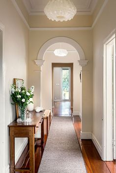 Beautiful hallway, by Collected Interiors