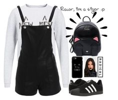 """kitty kitty cat"" by danieladuran1 ❤ liked on Polyvore featuring Mew., Bardot, adidas, Casetify and Old Navy"