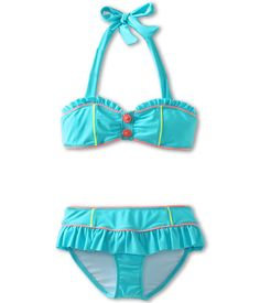 Seafolly Kids Roller Girl Mini Tube Bikini (Little Kids/Big Kids) Poolside
