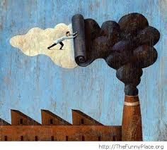 Image result for pollution painting