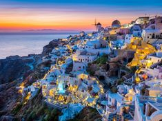 Santorini is officially one of the best islands in the world—and one of the most picturesque. The small village of Oia is particularly captivating, with its whitewashed buildings and bright blue roofs.