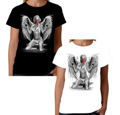 Velocitee Ladies Marilyn Monroe Gangster T-Shirt Pin Up Star Tattoo W16186 #Velocitee