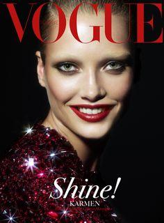 Vogue Turkey - Karmen Pedaru - Cuneyt Akeroglu - 2013 http://www.lisaeldridge.com/gallery/covers/ #LisaEldridge #Makeup #Beauty