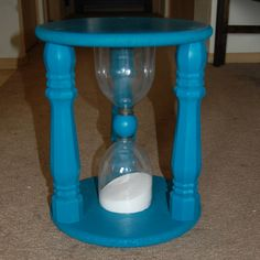 Gigantic timer stool? Yes, please! Of course I would never use it as a time out stool (which was its intended use) but for a game night? AWESOME. Time Out Stool, Wood Crafts, Fun Crafts, Crafts To Make And Sell, Wood Projects, Craft Projects, Diy Furniture, Children Furniture, Kids Room