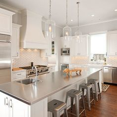 Stainless Steel Island Counter Top W Marble Tops Kitchens Contemporary Kitchen Dallas Holland Rogers Company Llc