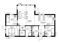 Borohus tredje Fjärden, Planlösning Cabins In The Woods, Floor Plans, Floor Plan Drawing, House Floor Plans