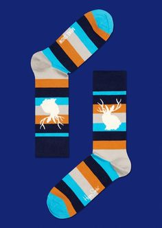 Miike snow's cream/orange cool socks for fun people at HappySocks.com Snow Cream, Winter Socks, Happy Socks, Cute Creatures, Cool Socks, Orange, People, Fun, Clothes
