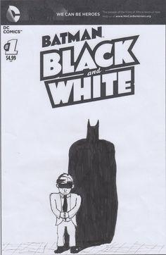 Batman Black and White Variant Cover by PurpleMonkeyDishwism on DeviantArt