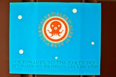 Front door sign for party