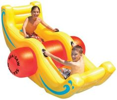 Sea-Saw Rocker by Swimline. $59.99. From the Manufacturer                Swimline Sea-Saw Rocker                                    Product Description                Swimline rocks your world with the fun see-saw aquatic toy. Rockin' cool time for kids!. Save 32%!