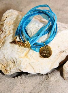 Bynookz Bracelet Turkoois Live Your Dream gold