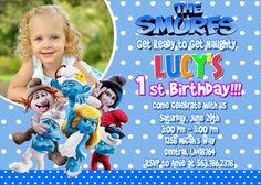 Smurfs Birthday Party Invitation  Printable by FunPartyInvitation, $8.99